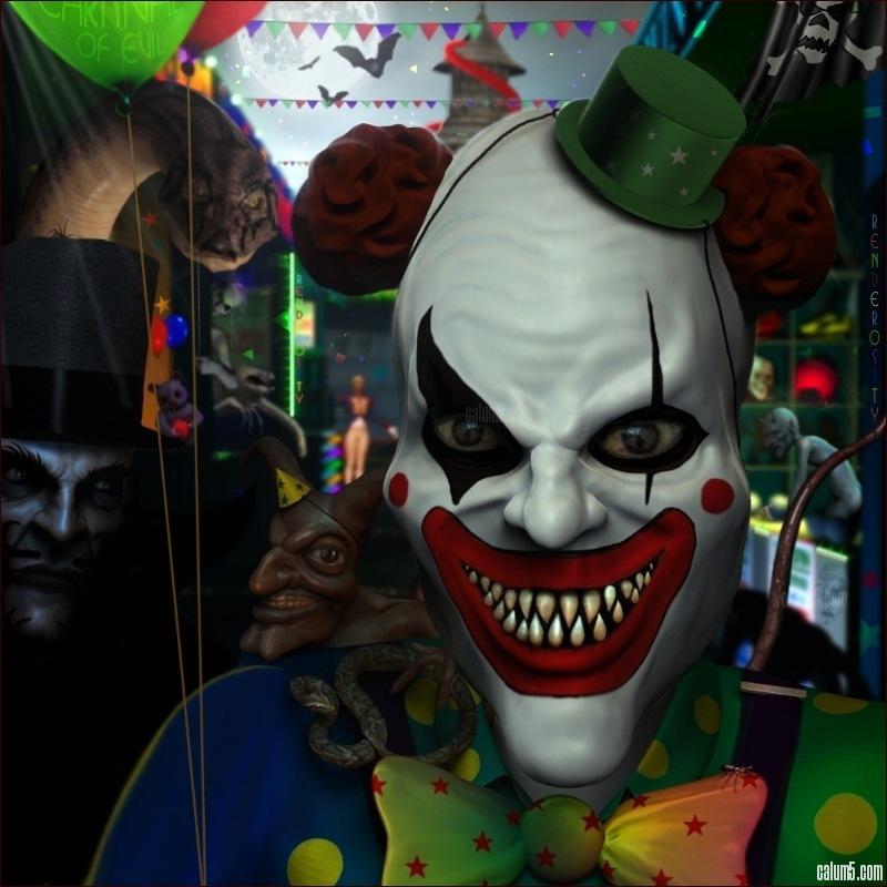 Clowns mechants - Maquillage qui fait peur ...